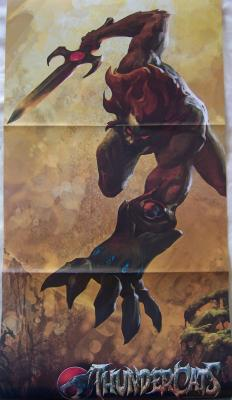 Thundercats & Young Justice Comic-Con double sided promo poster