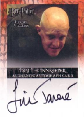 Jim Tavare Harry Potter Heroes & Villains certified autograph card