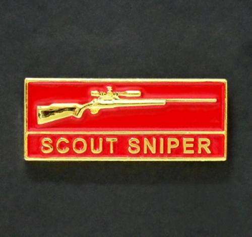 US Marines SCOUT SNIPER metal badge pin
