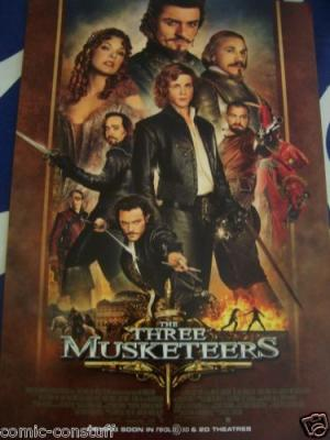 Three Musketeers movie 2011 promo poster (Orlando Bloom) MINT