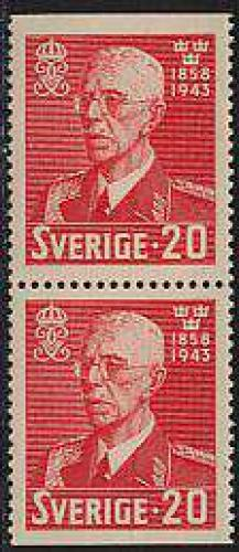 King Gustaf V birthday booklet pair; Year: 1943