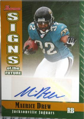 Maurice Jones-Drew certified autograph 2006 Bowman Signs of the Future Gold Rookie Card #49/50