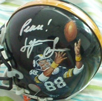 Lynn Swann autographed Pittsburgh Steelers mini helmet painted by Jolene Jessie (1/1)