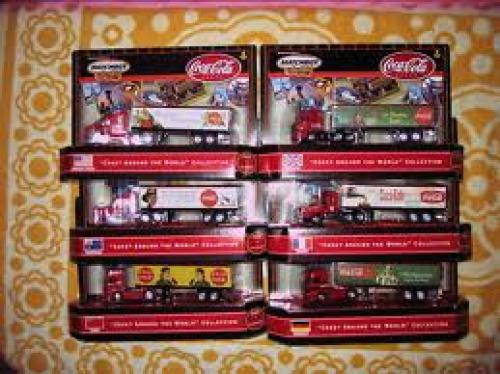 Trucks; AUTHENTIC UNIQUE SET OF 6 RIGS MATCHBOX 2000 &quot;COKE AROUND