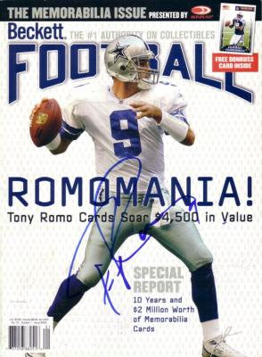 Tony Romo autographed Dallas Cowboys Beckett Football magazine cover
