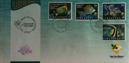 Singapore FDC - Marine Fish Series