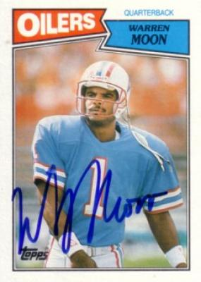 Warren Moon autographed Houston Oilers 1987 Topps card