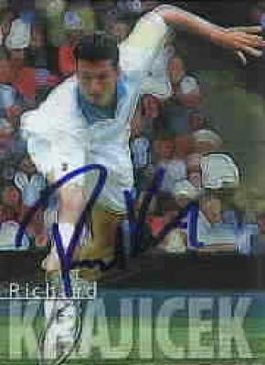 Richard Krajicek autographed 2000 ATP Tour card