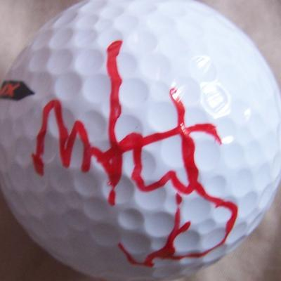 Mark Wahlberg autographed golf ball