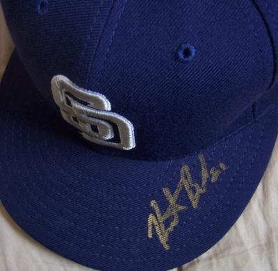 Heath Bell autographed San Diego Padres authentic game model cap