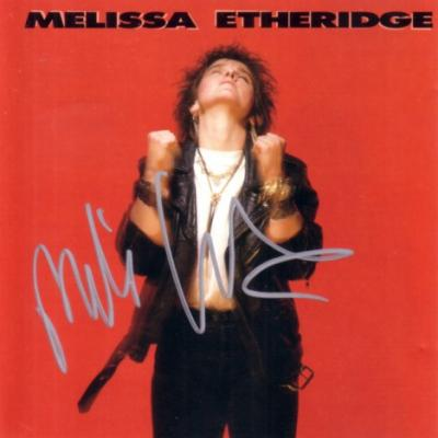 Melissa Etheridge autographed CD booklet insert