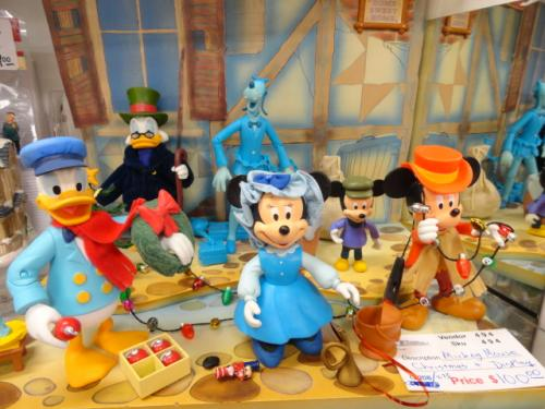 Disney Mickey Mouse Christmas Carol figures