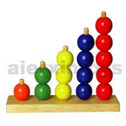 Wooden Toys - Number Ring Counter