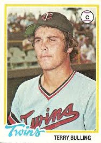 Baseball Card; This was Terry Bulling's first baseball card