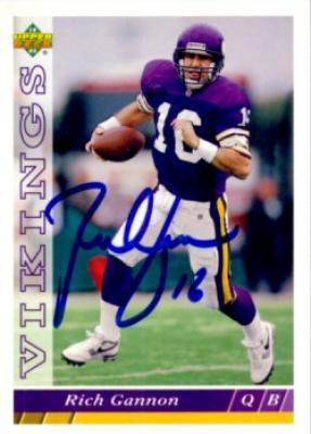 Rich Gannon autographed Minnesota Vikings 1993 Upper Deck card