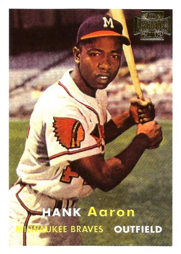 2002 Topps Archives #168 ~ Hank Aaron '57
