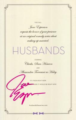 Jane Espenson autographed Husbands promo card
