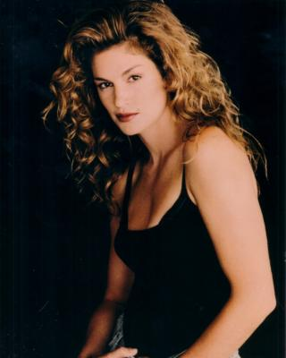 Cindy Crawford 8x10 photo card (black tank top)