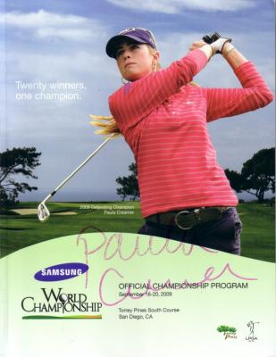 Paula Creamer autographed 2009 LPGA Samsung World Championship program