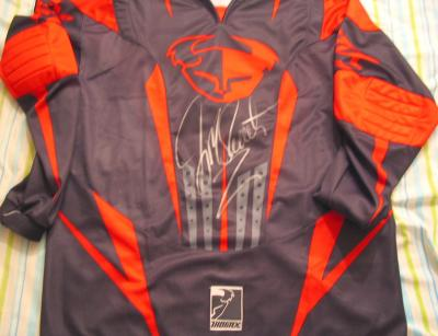 Jeremy McGrath autographed Thor MX Racing jersey