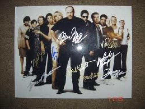 Memorabilia; Photograph of the cast of the TV series &quot;The Sopranos&quot;
