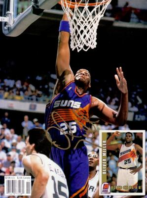 Oliver Miller autographed Phoenix Suns Beckett Basketball back cover photo