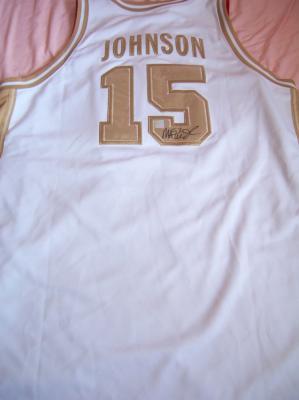Magic Johnson autographed 1992 USA Basketball Dream Team Nike Gold Medal jersey
