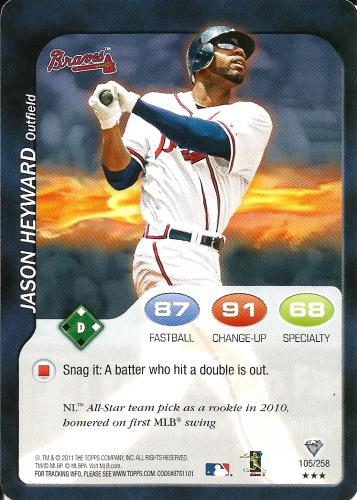 2011 Topps Attax #105 ~ Jason Heyward