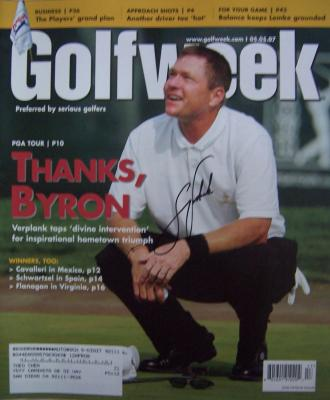 Scott Verplank autographed 2007 Golfweek magazine