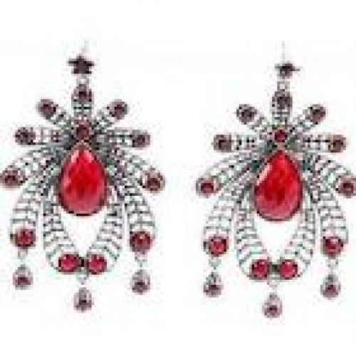 Jewelry; Red spider man jewelry vintage resin earrings spint sieraden