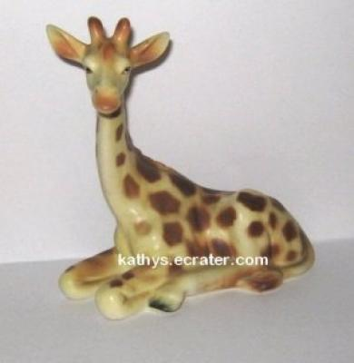 Vintage Japan Laying Giraffe Animal Figurine