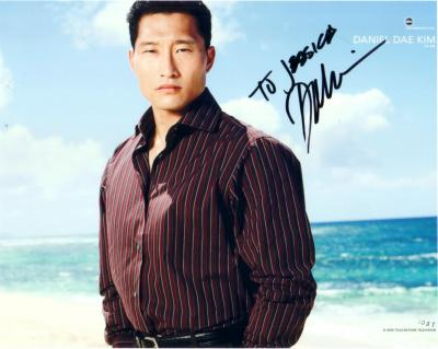 Daniel Dae Kim autographed LOST 8x10 photo (to Jessica)