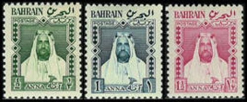 Definitives 3v, Al-Khalifa; Year: 1953