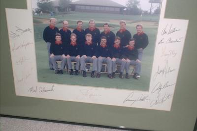 1987 US Ryder Cup Team autographed 8x10 photo framed (Jack Nicklaus Payne Stewart Ben Crenshaw)