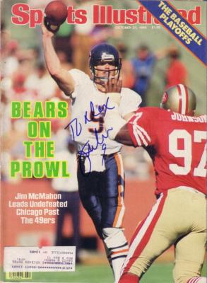 Jim McMahon autographed Chicago Bears 1985 Sports Illustrated (to Alex)