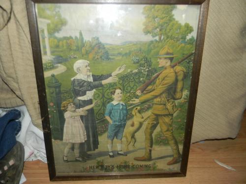 Charles.Gustrine World ward 1 era poster Her Boys Homecoming (Doughboy)