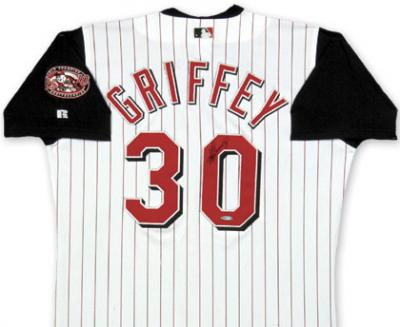 Ken Griffey Jr. autographed Cincinnati Reds authentic jersey UDA