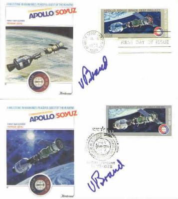 Vance Brand (astronaut) autographed 1975 Apollo-Soyuz cachet set