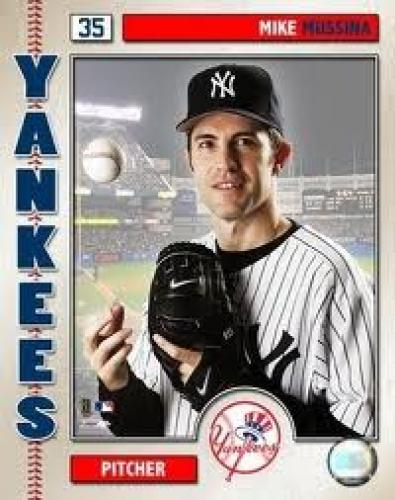 Baseball Card; Mike Mussina; Pitcher Yankees
