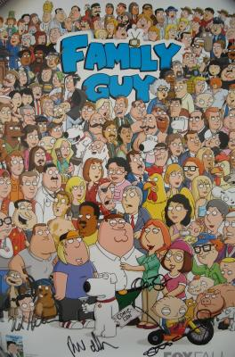 Alex Borstein autographed Family Guy 2010 Comic-Con poster