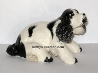 Nippon Japan English Cocker Spaniel Spaghetti Dog Animal Figurine
