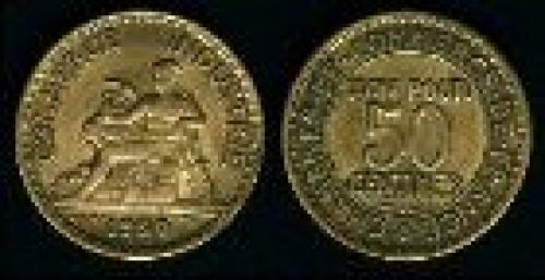 50 centimes; Year: 1921-1929; (km 884)