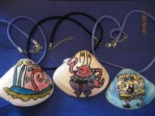 Crafts;  Handmade Painted Shells & Necklaces