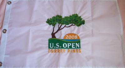 2008 U.S. Open Torrey Pines embroidered golf pin flag (Tiger Woods wins 14th major)