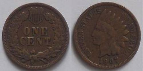 Coins;USA‑indian‑head‑cent‑1907