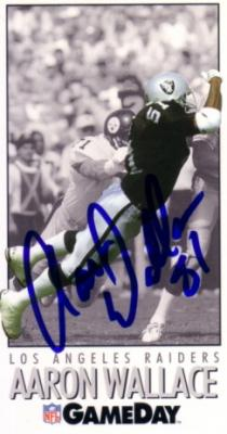Aaron Wallace autographed Oakland Raiders 1992 GameDay card