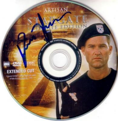 Kurt Russell autographed Stargate Ultimate Edition DVD