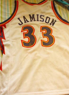 Antawn Jamison autographed Golden State Warriors authentic game model jersey