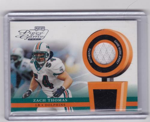 2002 PLAYOFF PIECE OF THE GAME JERSEY ZACH THOMAS
