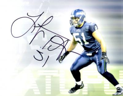 Lofa Tatupu autographed Seattle Seahawks 8x10 photo